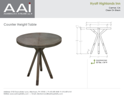 Hyatt Counter High Table
