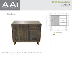 Hyatt Highlands Credenza 39in
