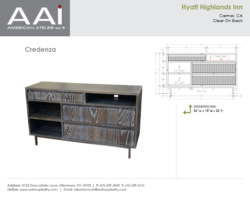 Hyatt Highlands Credenza 56in