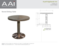 Hyatt Highlands Round Table